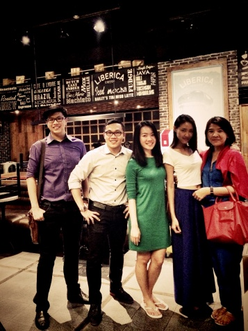 With Indah, Andreas, Hervinny and Diana at Liberica Coffee