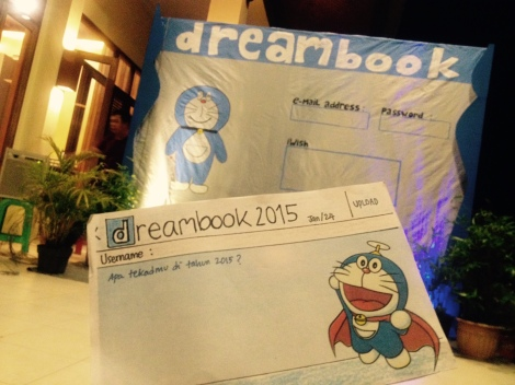 """""""Dreamcard"""" and the Dreambook homepage."""